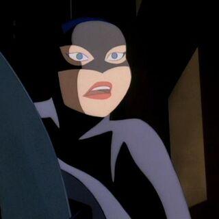 Barbara masqurades as Batman.