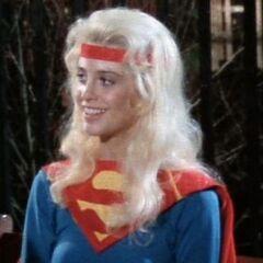 Supergirl in a test costume.
