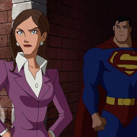 Lois Lane and Superman.
