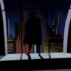 Batman arrives in Metropolis.