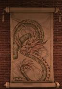 Chinese dragon drawing