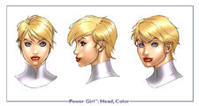 PowerGirl head color