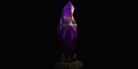 Purple Crystal Pedestal