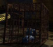 Caged officer