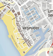 GTA V Vespucci Map