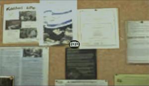 Dead rising pp office board close up