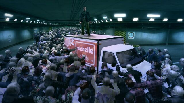 File:Dead Rising Frank on top of truck.jpg