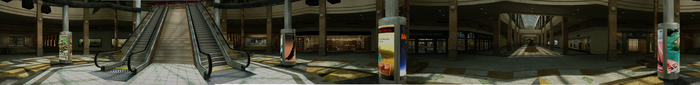 Dead rising PANORAMA escalators Entrance Plaza COMPLETE