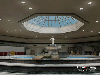 Dead rising north plaza fountain for background (2)
