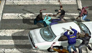 Dead rising 384 brutality man atop white car (7)