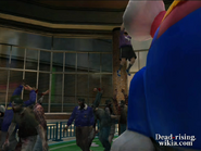 Dead rising Nick and Sally hanging from Bunny Balloon in Wonderland on Day 2