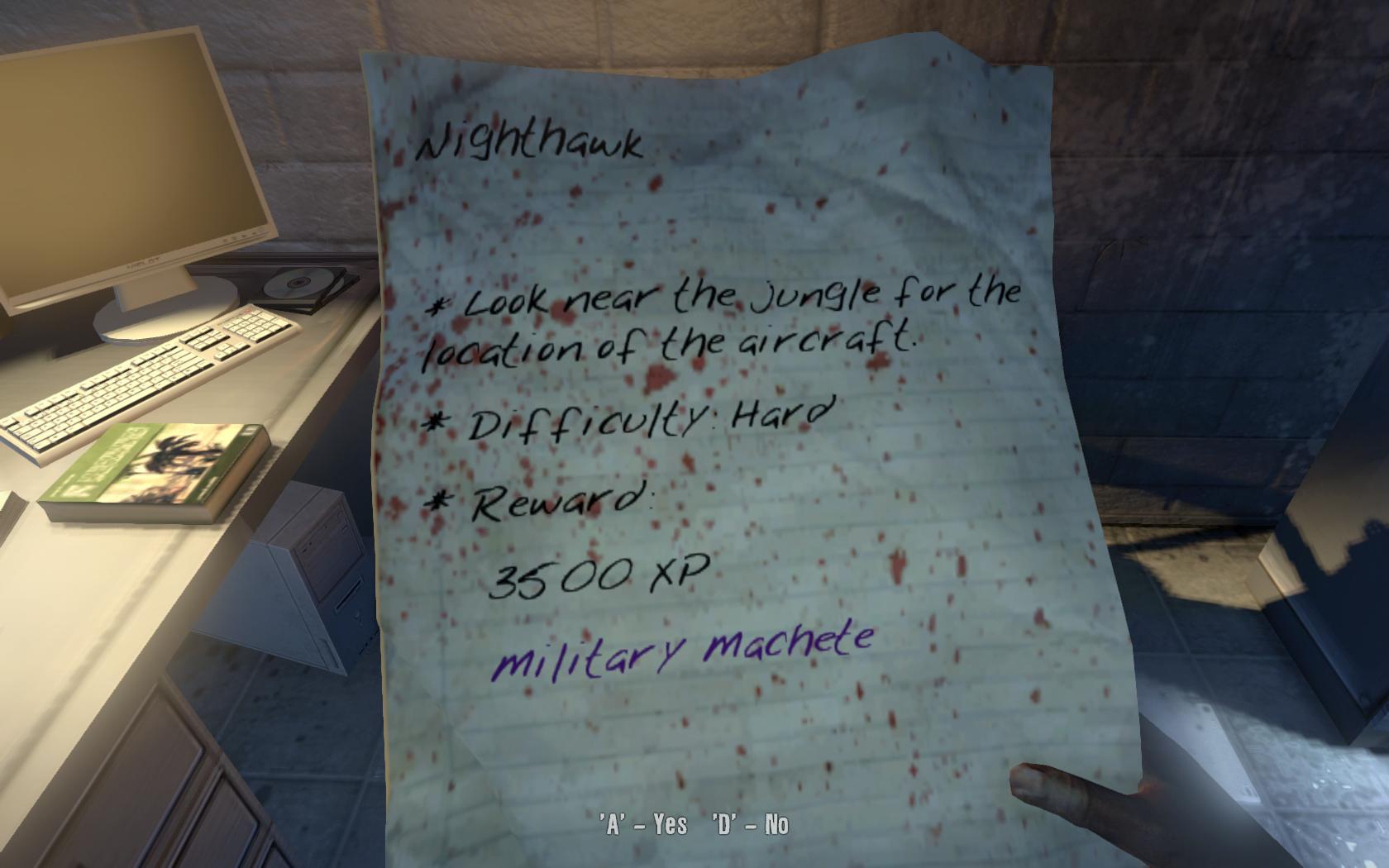Nighthawk Mission Dead Island