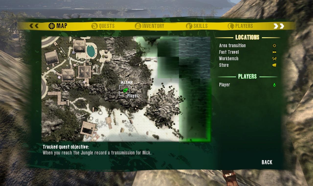 Dead Island Brown Skull Location Map