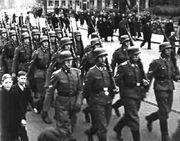 Latvianwaffen ss marchRiga