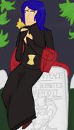Widow headstone