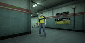 Dead rising warehouse E sign caution