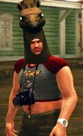 Dead rising horse mask and kid clothes