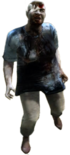 Dead rising zombies fat women in blue bandaged