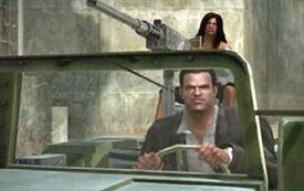 Frank & Isabela in jeep