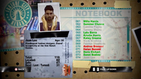 Dead Rising juan notebook