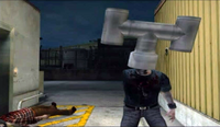 Dead Rising smoke stack on zombie