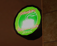 Columbian Roastmasters Neon Sign PP Sticker
