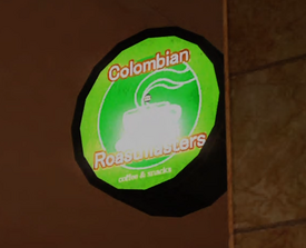 Columbian Roastmasters Neon Sign PP Sticker