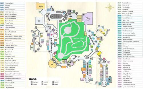 Mall Map Dead Rising Wiki Fandom Powered By Wikia