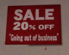 McHandy's Hardware Closing Sale