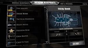 Sticky Bomb Blueprint