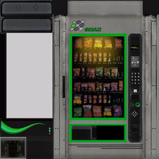Vendingmachine green texture