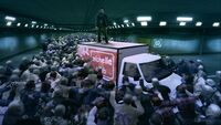 Dead Rising Frank on top of truck