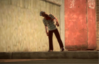 Dead rising case 0 intro first zombie man over there