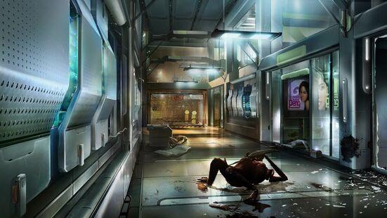 Dead space 2 Strange hall way