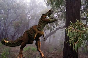 Tyrannosaurus in environment