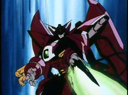 Moble Suit Gundam Wing - Gundam Epyon using its sword as seen in the anime