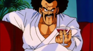 Dragon Ball - Hercule drinking and sitting