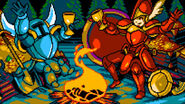 Shovel Knight with Shield Knight