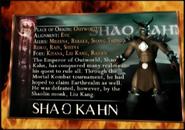 Mortal Kombat - Shao Kahn's Bio Kard