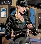 Mortal Kombat - Sonya Blade as she appears in the Mortal Kombat X Comics