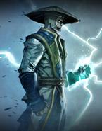 Mortal Kombat - Raiden as he appears on the Promotional artwork for the Mortal Kombat X digital comic book.