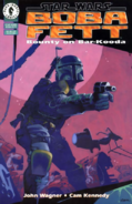 Star Wars - Boba Fett as he appears on the front page comic cover by Dark Horse Comics