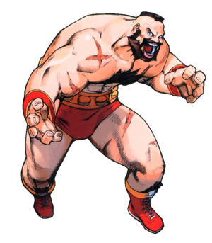 Street Fighter - Zangief as he appears in Street Fighter Alpha 3