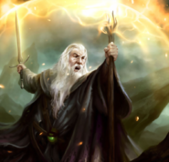 The Lord of The Rings - Gandalf casting a spell as seen in Guardians of Middle-Earth