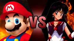 Mario vs Sailor Mars