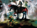 The Legend of Zelda - Artwork of Ganondorf on his Horse as seen in Ocarina of Time