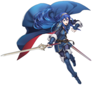Fire Emblem Heroes Lucina dramatic pose no glow