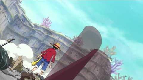 Luffy knocks out 50,000 fishmen with Haki