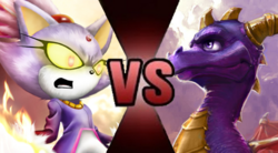 Blaze the Cat vs Spyro