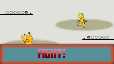 Pikachu Agumon Fight